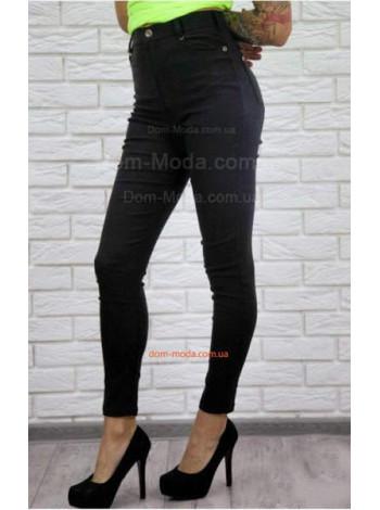Модные облегающие черные джинсы большого размера