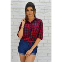 Женская модная клетчатая рубашка с длинным рукавом большого размера