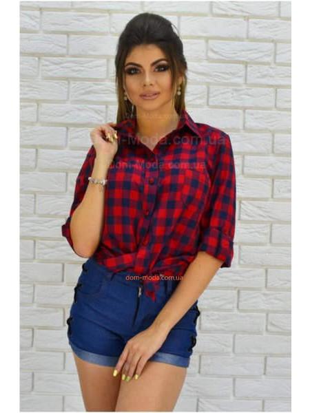 Жіноча модна клітчаста сорочка із довгим рукавом великого розміру