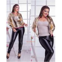 Женская легкая куртка золотистого цвета