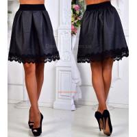 Женская стильная короткая юбка стеганка