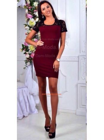 Короткое платье женское из макраме
