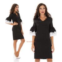Стильное платье женское с кружевным рукавом