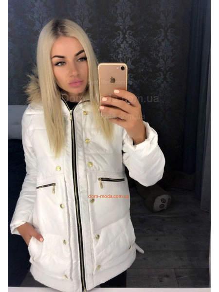 Стильная зимняя куртка с натуральным мехом. Распродажа