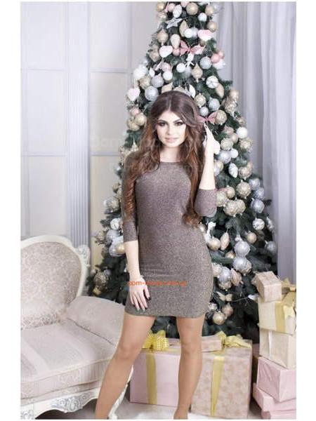 Вечернее мини платье с открытой спиной