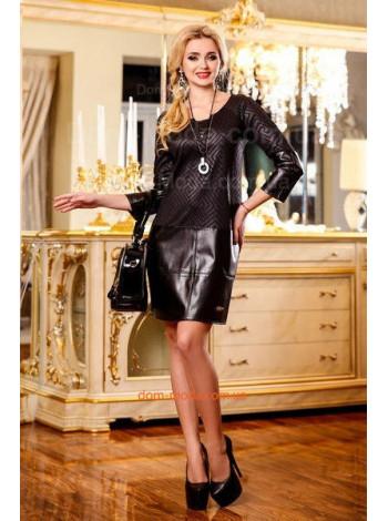 """Стильное женское платье """"Leather"""""""