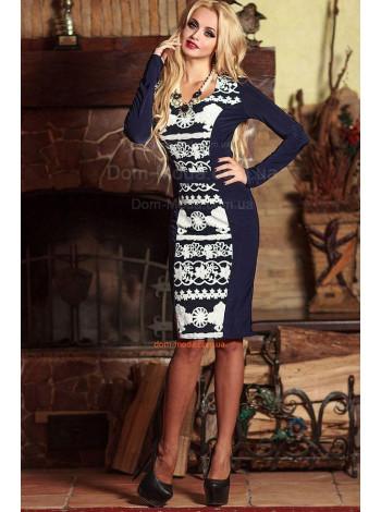 """Модное женское платье с длинным рукавом """"Slim"""""""