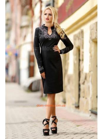 Женское платье с длинным рукавом для офиса