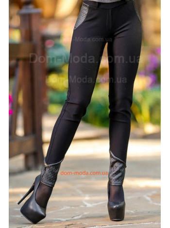 """Стильные женские лосины с кожаными вставками """"Stylish"""""""