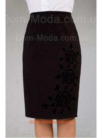 """Женская юбка большого размера """"Розы"""""""