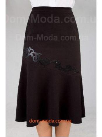 """Модная женская юбка большого размера """"Аппликация"""""""