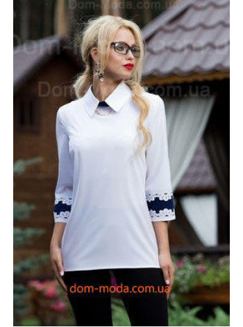 "Женская белая блузка ""Minerva"""