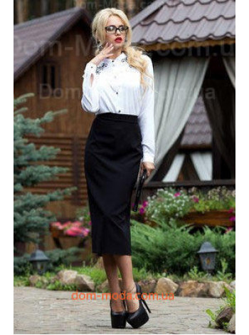 """Женская черная юбка миди """"Єlza"""""""