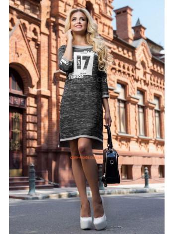 """Стильное платье в спортивном стиле """"17"""""""