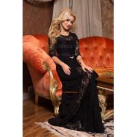 Длинное вечернее женское платье