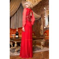 Вечернее нарядное платье с длинным рукавом