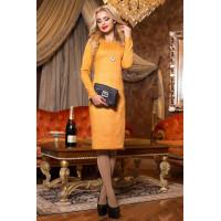 Красивое женское платье футляр с рукавом