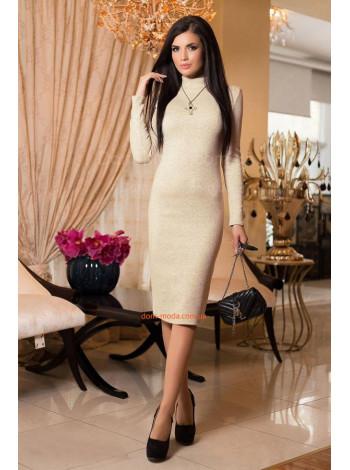 Модное женское платье гольф миди