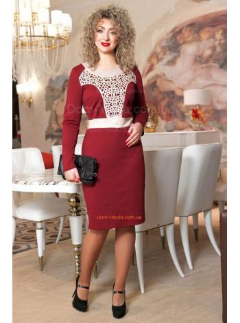 Женское платье большого размера до колена
