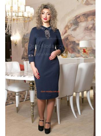 Модное женское платье большого размера с рукавом