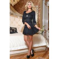 Вечернее замшевое платье женское