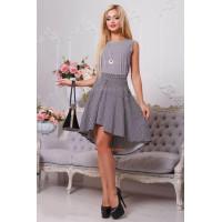 Женская асимметричная юбка с принтом