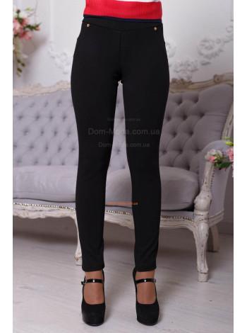 Плотные трикотажные женские брюки