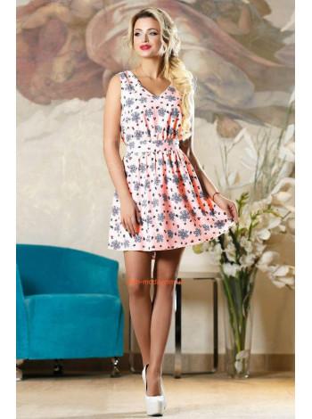 Літнє жіноче плаття з квітковим принтом