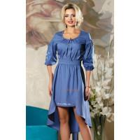 Літня асиметрична жіноча сукня з коротким рукавом
