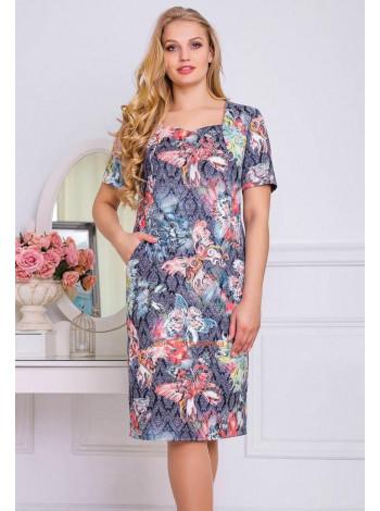 Летнее деловое платье женское большого размера