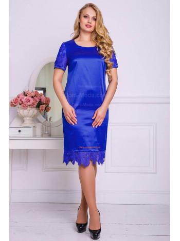 Вечернее атласное женское платье большого размера