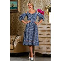 Стильное женское летнее платье сарафан в принт