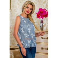 Стильна літня жіноча блузка без рукав