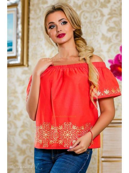 Модная летняя блузка с рукавом женская