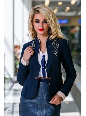 Модный женский жакет с длинным рукавом