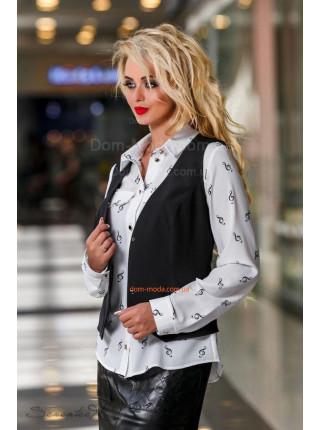 Жіночий модний класичний жилет чорного кольору