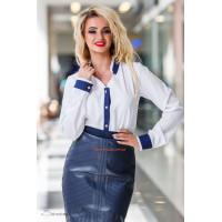 Ділова жіноча блузка білого кольору