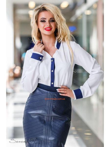 Деловая женская блузка белого цвета
