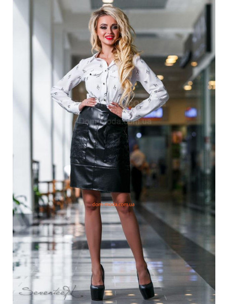 Женская модная белая блуза с принтом
