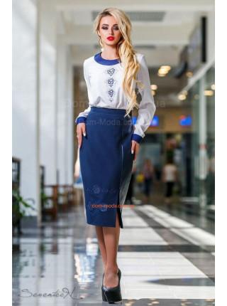 Модная женская белая блуза с кружевной спиной