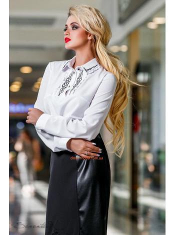 Жіноча модна офісна блуза з довгим рукавом