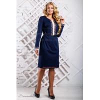 Модне плаття жіноче із довгим рукавом і поясом