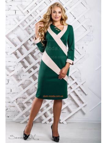 Женское модное платье с длинны рукавом большого размера