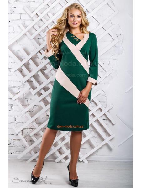 Жіноче модне плаття з довгим рукавом великого розміру ... 6ed566232bbdc