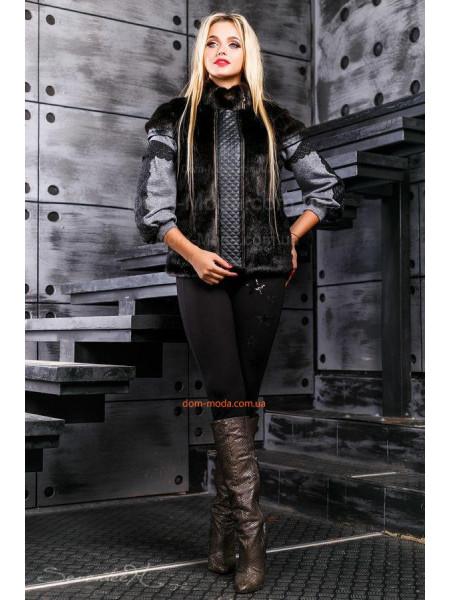 Модная женская меховая жилетка