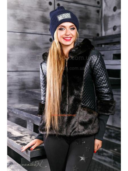 Коротка куртка зимова із хутром