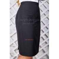 Классическая женская юбка черного цвета большого размера