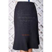 Женская юбка большого размера черного цвета