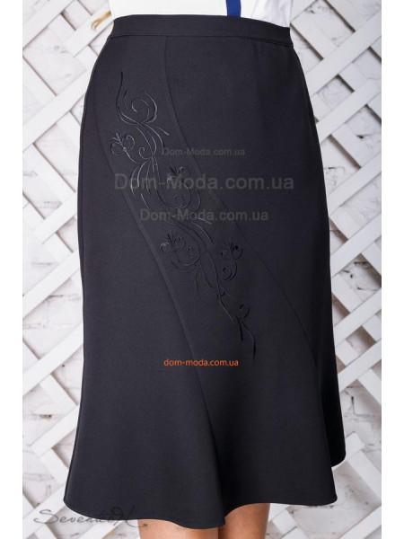 Жіноча спідниця великого розміру чорного кольору