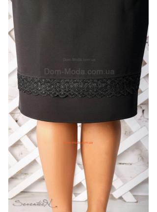Стильна чорна спідниця по коліно великого розміру
